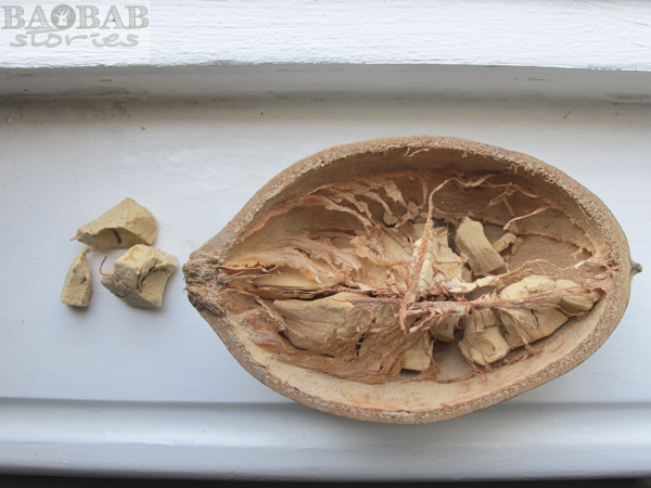 Open Baobab Fruit