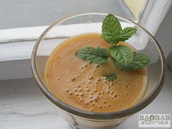 Creamy Baobab Apricot Smile Smoothie