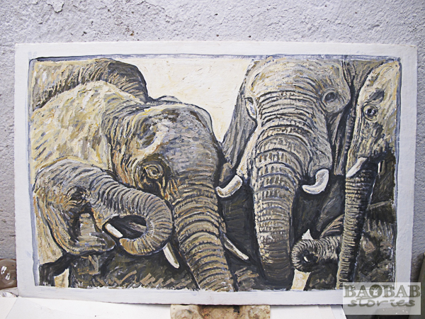 Elephants, Wayne Stutchbury, Artist
