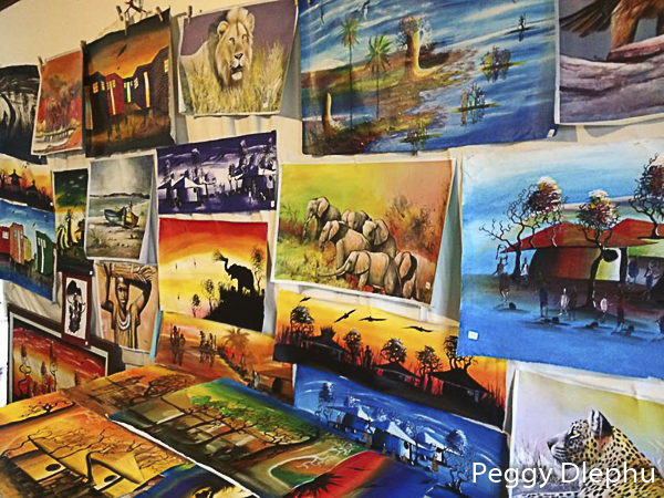 Peggy Dlephu's Paintings
