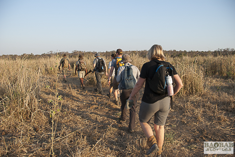 Haritha Pilapitiya and Jasper Visser, Trails Guides, walking with a group