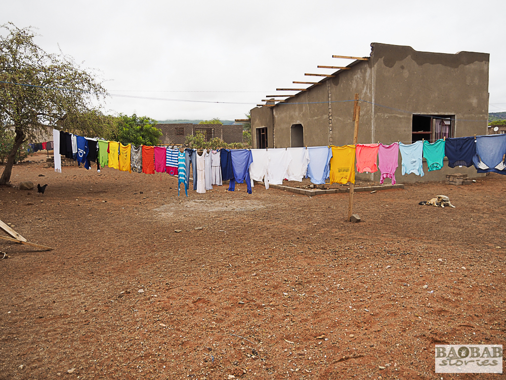 Laundry day in the yard of Baobab Guardian Evelina Tshitete, Heike Pander