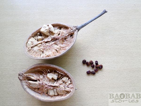 Baobab Fruchtschalen mit Samen