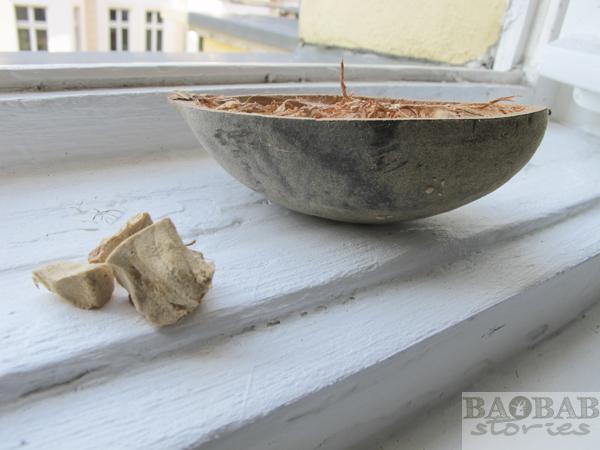 Offene Baobab Frucht