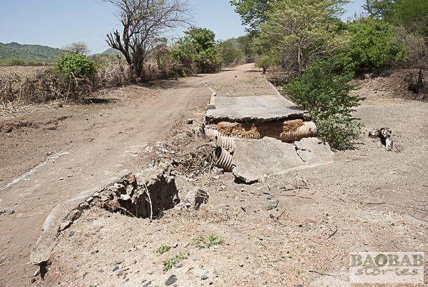 Zerstörte Brücke, Mount Darwin Area, Simbabwe