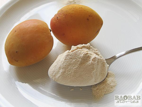 Baobab Pulver mit Aprikosen