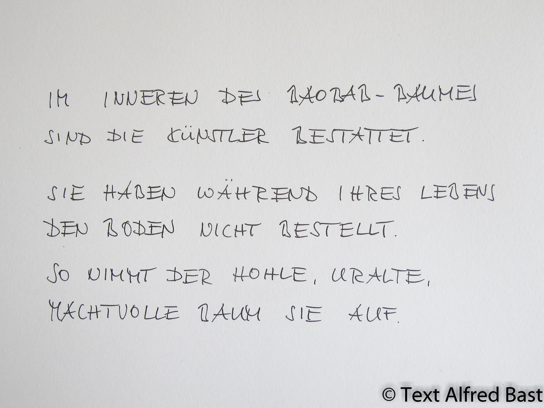 Text von Alfred Bast über den Baobab