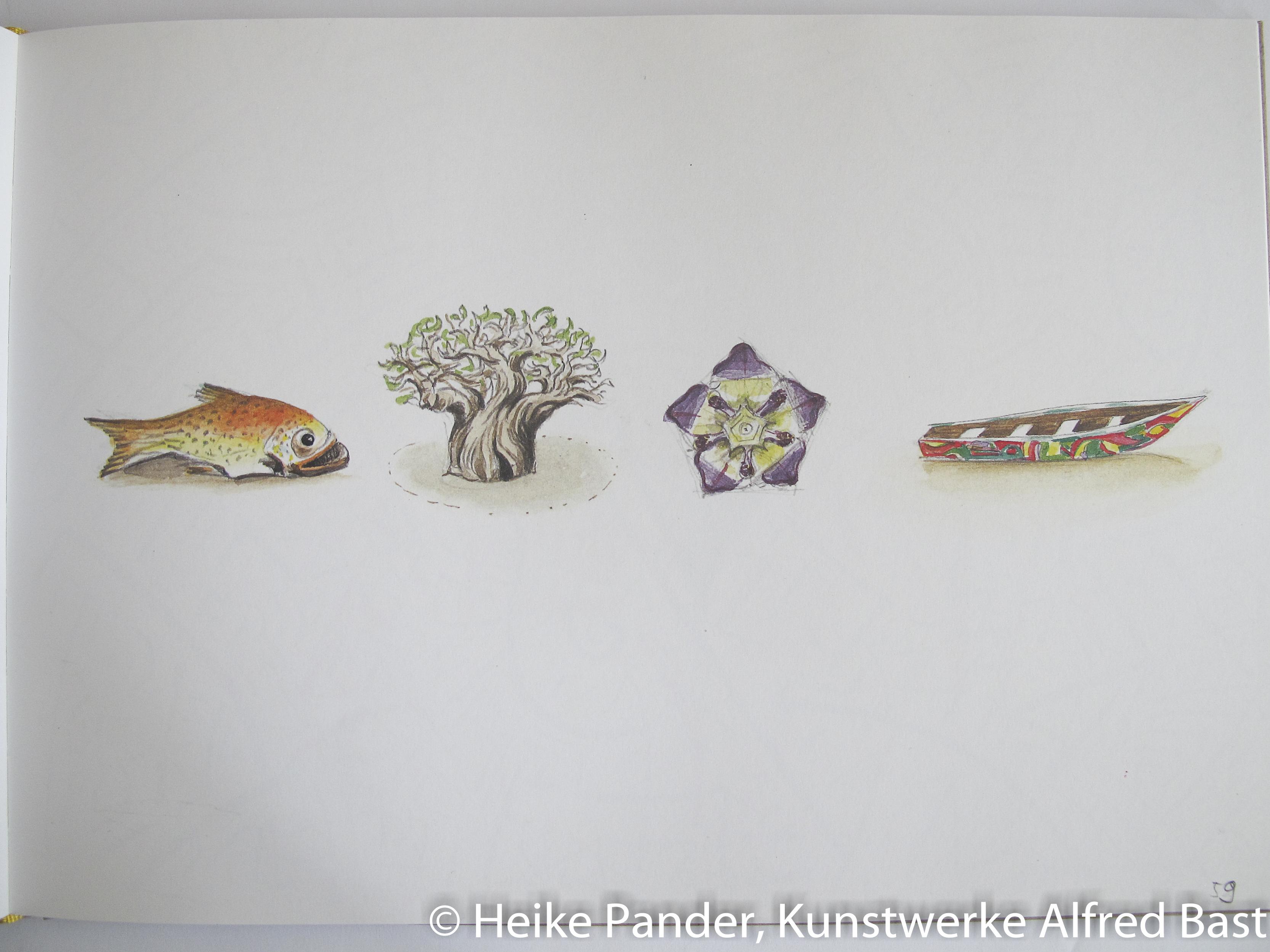 Zeichnungen im Werkbuch, Alfred Bast