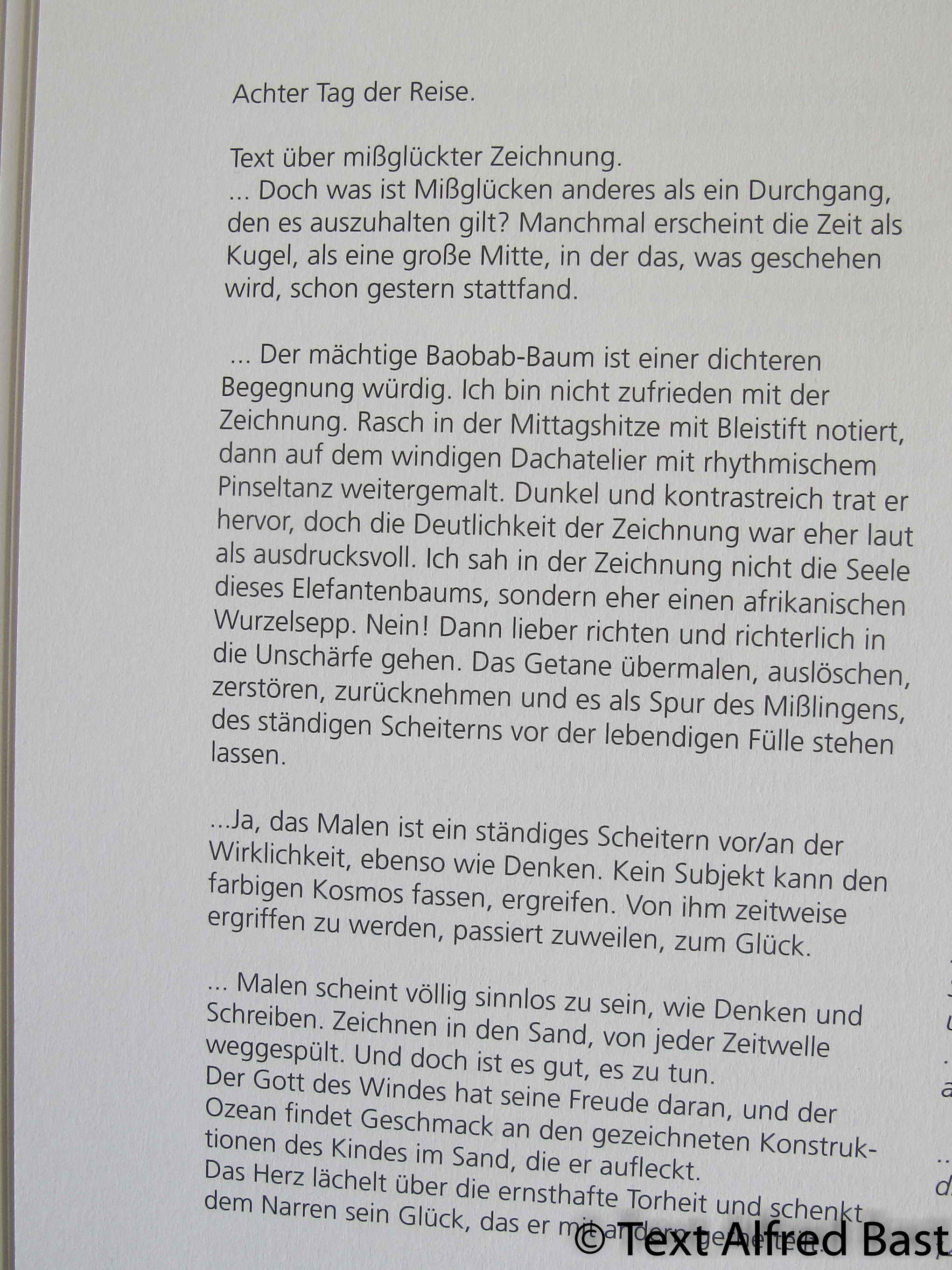 Text zur Baobab Skizze, Alfred Bast