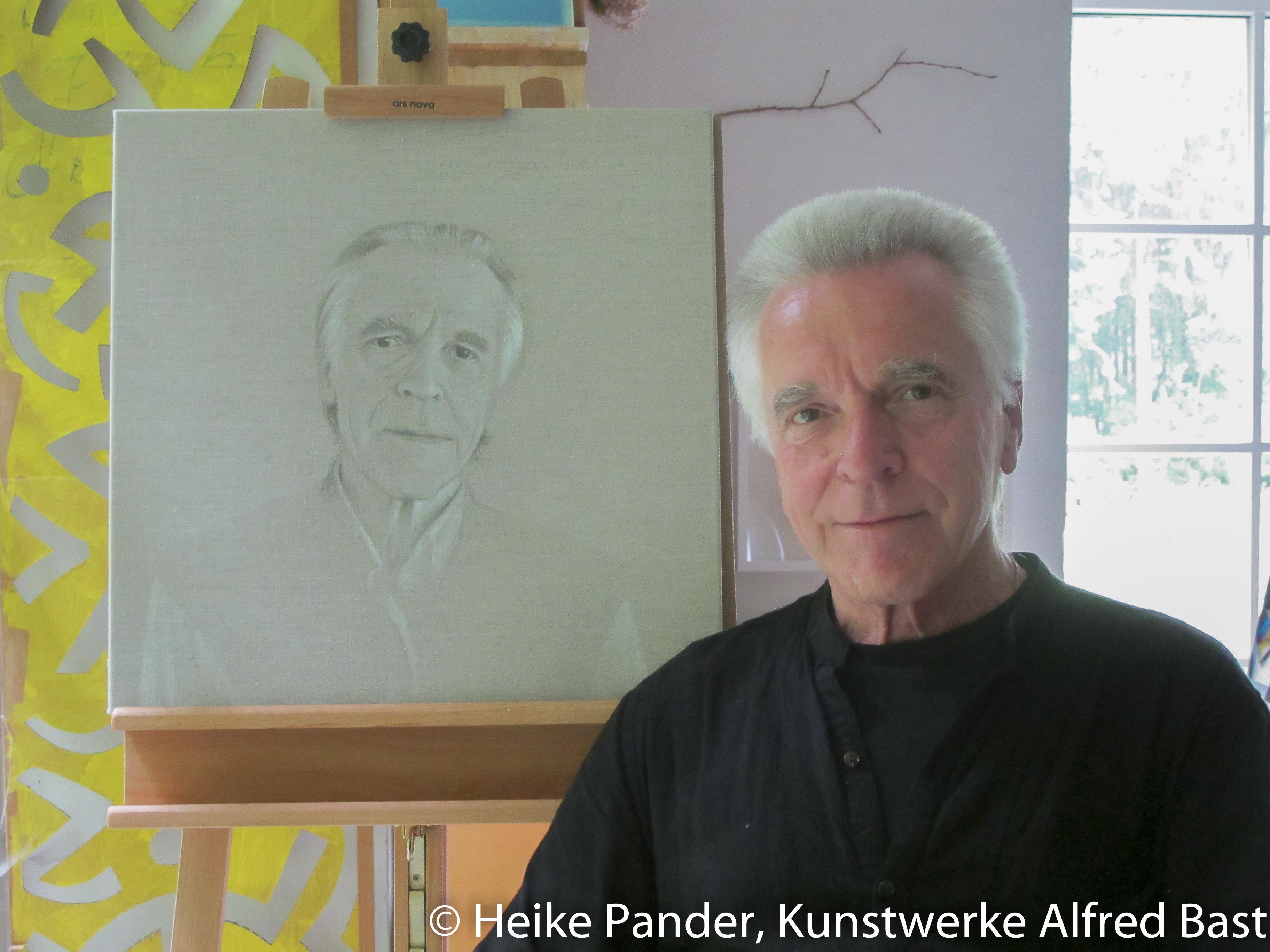 Alfred Bast in seinem Atelier im Frauenhof