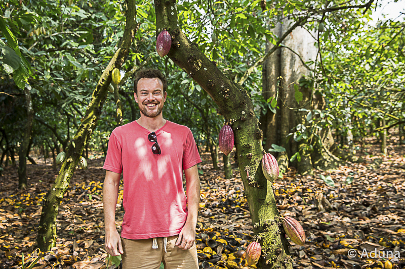Andrew Hunt with Cocoa Fruit