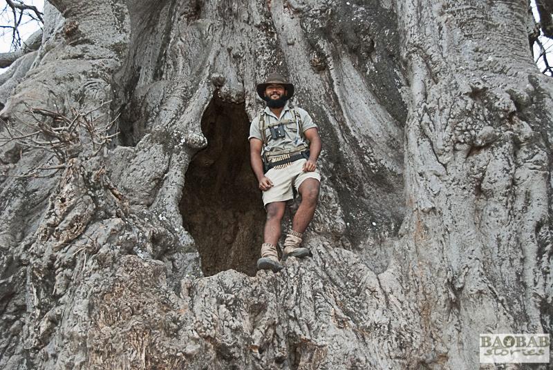 Haritha Pilapitiya auf Baobab, Trails Guide, Makuleke, Südafrika