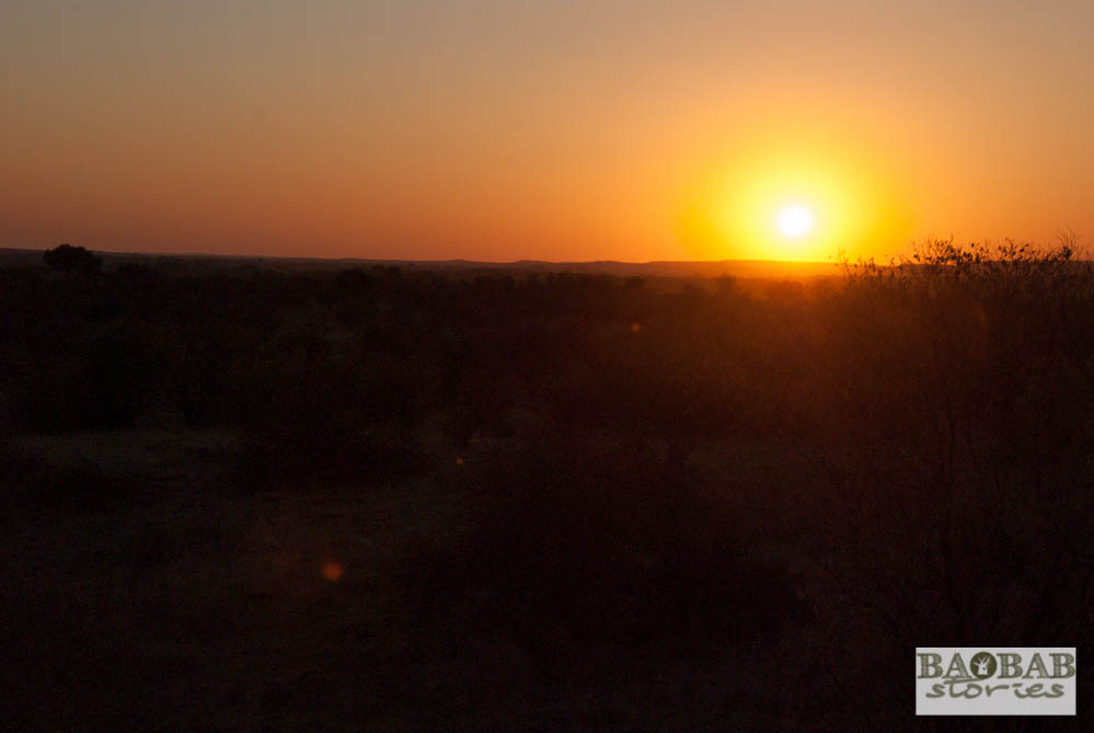 Sonnenuntergang, Mashatu, Tuli Block, Botswana
