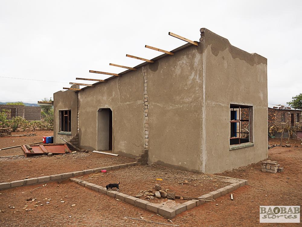 Haus von Baobab Hüterin Evelina Tshitete in Limpopo, Südafrika, Heike Pander